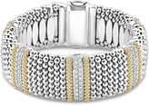 Lagos 18K Gold & Sterling Silver Diamond Lux Five Station Bracelet, 23mm