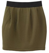 Petit Bateau Womens two-color tulip skirt in double-sided tube knit