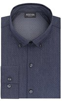 Kenneth Cole Reaction Men's Technicole Slim Fit Print Buttondown Collar Dress Shirt