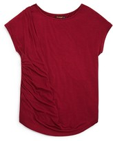 Ella Moss Girls' Side Ruched Jersey Top - Sizes 7-14