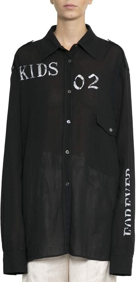 Ann Demeulemeester Cotton Oversized Shirt