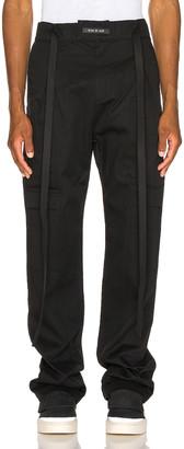 Fear Of God Baggy Cargo Trousers in Vintage Black | FWRD