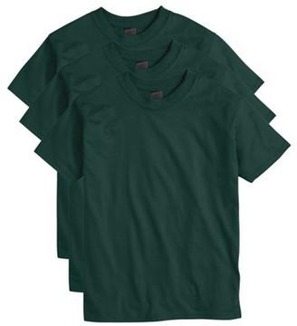 Hanes Boys 4-18 Beefy Short Sleeve Tee Value Pack, 3 pack