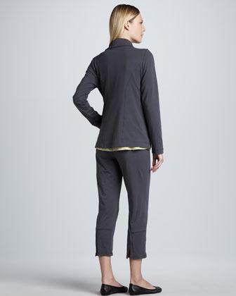 Eileen Fisher Organic Cotton High Collar Jacket