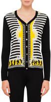 Versace Stripe Print Cardigan