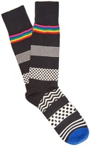 Paul Smith Polka-dot and striped cotton-blend socks