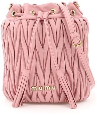 Miu Miu Matelasse Bucket Bag