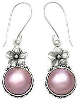 Novica Artisan Crafted Sterling Cultured Mabe Pearl Earrings