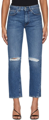 Totême Blue Ripped Original Jeans