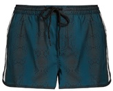 The Upside Sea Python-print performance shorts