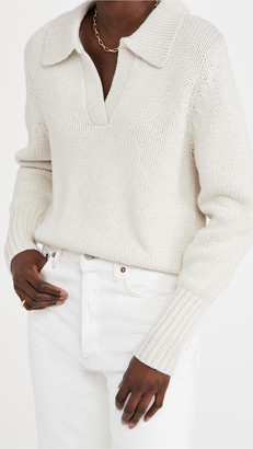Bassike Cotton Merino Polo Knit