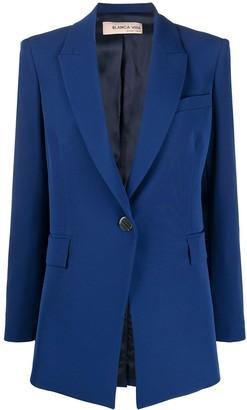Blanca Vita Single-Breasted Angled Suit Jacket