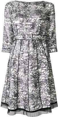 Marc Jacobs patterned pleated dress
