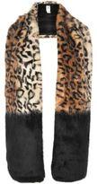 River Island Womens Brown leopard print block stole