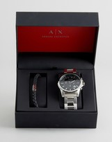 Armani Exchange Outerbanks Chronograph Watch & Bracelet Gift Set