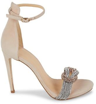 Alexandre Birman Embellished Suede Ankle-Strap Sandals