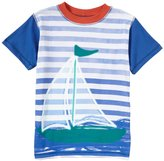 Charlie Rocket Color Block Sailboat Tee (Toddler/Kid) - White-2T