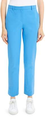 Theory Cropped Stretch Cotton Pants