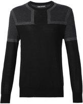 Neil Barrett colour block jumper - men - Merino - M
