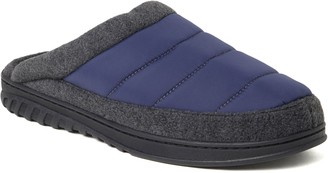 Dearfoams Men's Quilted Nylon Clog Slippers - Ryan
