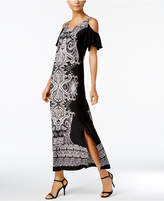 MSK Cold-Shoulder Maxi Dress