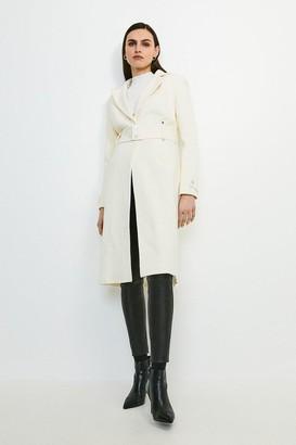 Karen Millen Italian Wool Rich Popper Coat