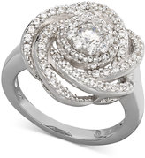 Wrapped in LoveTM Diamond Ring, 14k White Gold Diamond Pave Knot Ring (1 ct. t.w.)