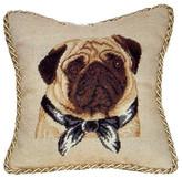 Petit Point Hkh International Pug Pillow