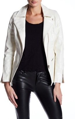 Tov Long Sleeve Faux Leather Jacket