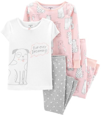 Carter's Toddler Girl Dog Print Top & Bottoms Pajamas
