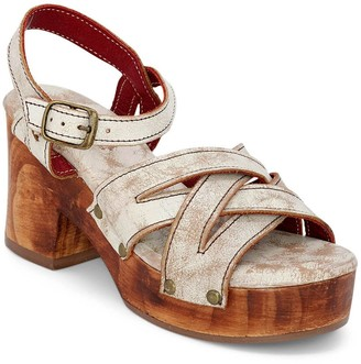 Bed Stu Leather Adjustable Clog Sandals - Paulina