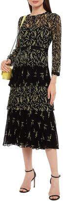 BA&SH Morris Tiered Floral-print Crepon Midi Dress