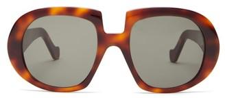 Loewe Oversized Tortoiseshell-effect Acetate Sunglasses - Tortoiseshell