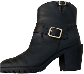 Marc by Marc Jacobs Black Leather Ankle boots