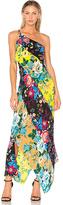 Diane von Furstenberg One Shoulder Asymmetrical Dress in Yellow. - size S (also in XS)