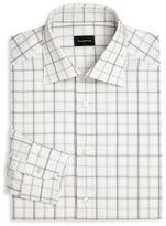 Ermenegildo Zegna Windowpane Check Regular-Fit Dress Shirt