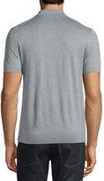 Michael Kors Cotton/Silk Short-Sleeve Polo Shirt