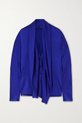 Haider Ackermann Draped Silk Blouse - Blue