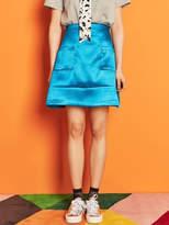 Blank Satin Mini Skirt Bl