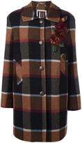 I'M Isola Marras checked single breasted coat - women - Cotton/Nylon/Viscose/other fibers - 44