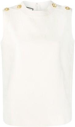 Gucci Monogram Pattern Sleeveless Top