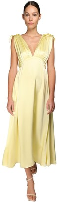 Nynne Silk Satin Midi Dress