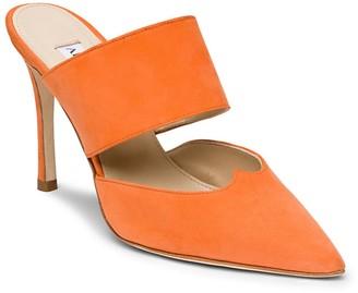 Alexis Isabel Mei Orange Suede Mules