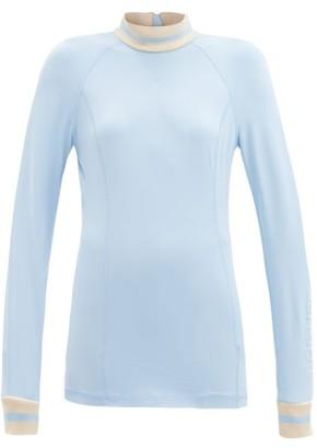 Bogner Madeleine Stretch-jersey Base-layer Top - Light Blue