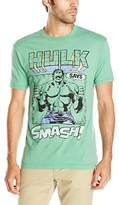 Marvel Men's Hulk Says Smash Short Sleeve Graphic T-Shirt