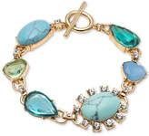 Carolee Gold-Tone Crystal & Multi-Stone Flex Bracelet