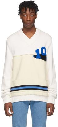 Maison Margiela Off-White Varsity Sweater