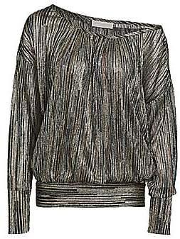 Ramy Brook Women's Dori Long-Sleeve Metallic Top