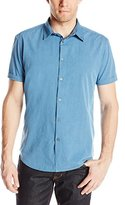 John Varvatos Men's Short Sleeve Button Front Shirt