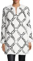 Manoush Women's Benny Fur Colorblocked Coat